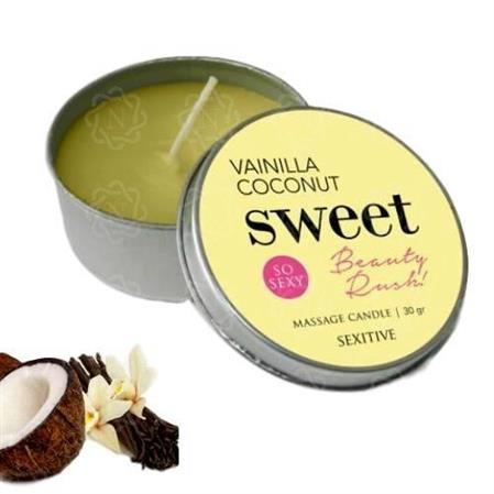 Vela Massage Candle Sweet Beauty Rush Vainilla Coconut