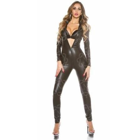 Catsuit de Transfer Mangas Largas Doble Cierre
